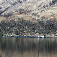 Freshwater loch farm at Black Bay, Loch Shiel