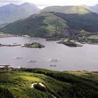 Loch Leven salmon farm near Ballachulish