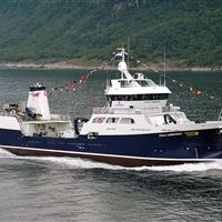 Ronja Commander well boat can carry 100 tonnes of live salmon from sea farms to the Harvest Station in Mallaig
