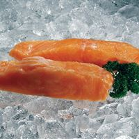 Salmon fillet portions