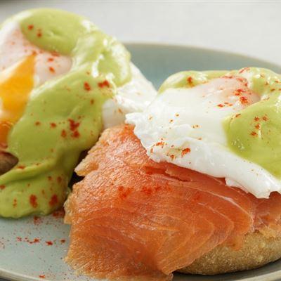 Eggs royale and avocado hollandaise
