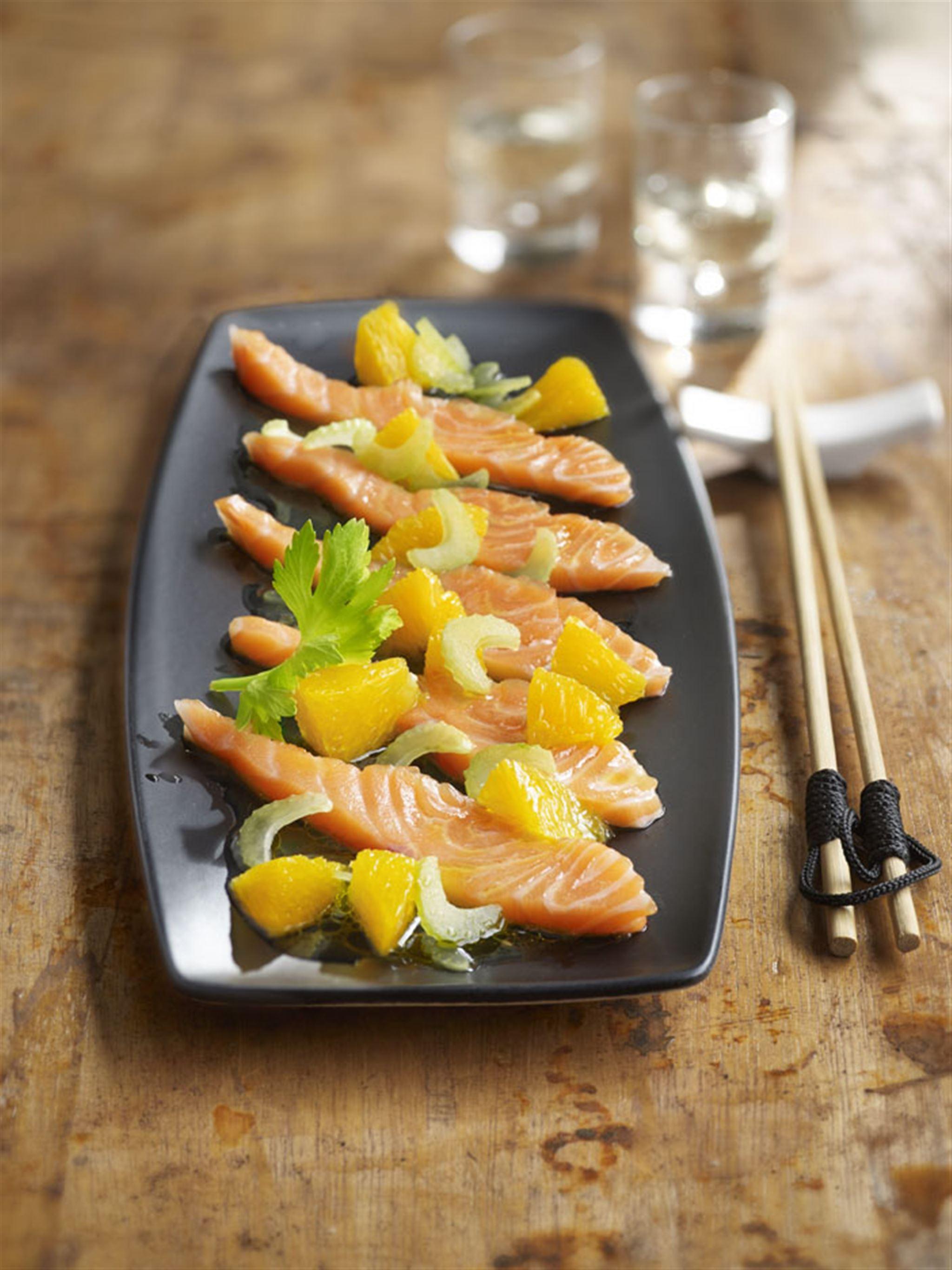 Fresh Salmon, Japanese Style