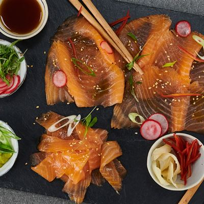 Japanese inspired Smoked salmon