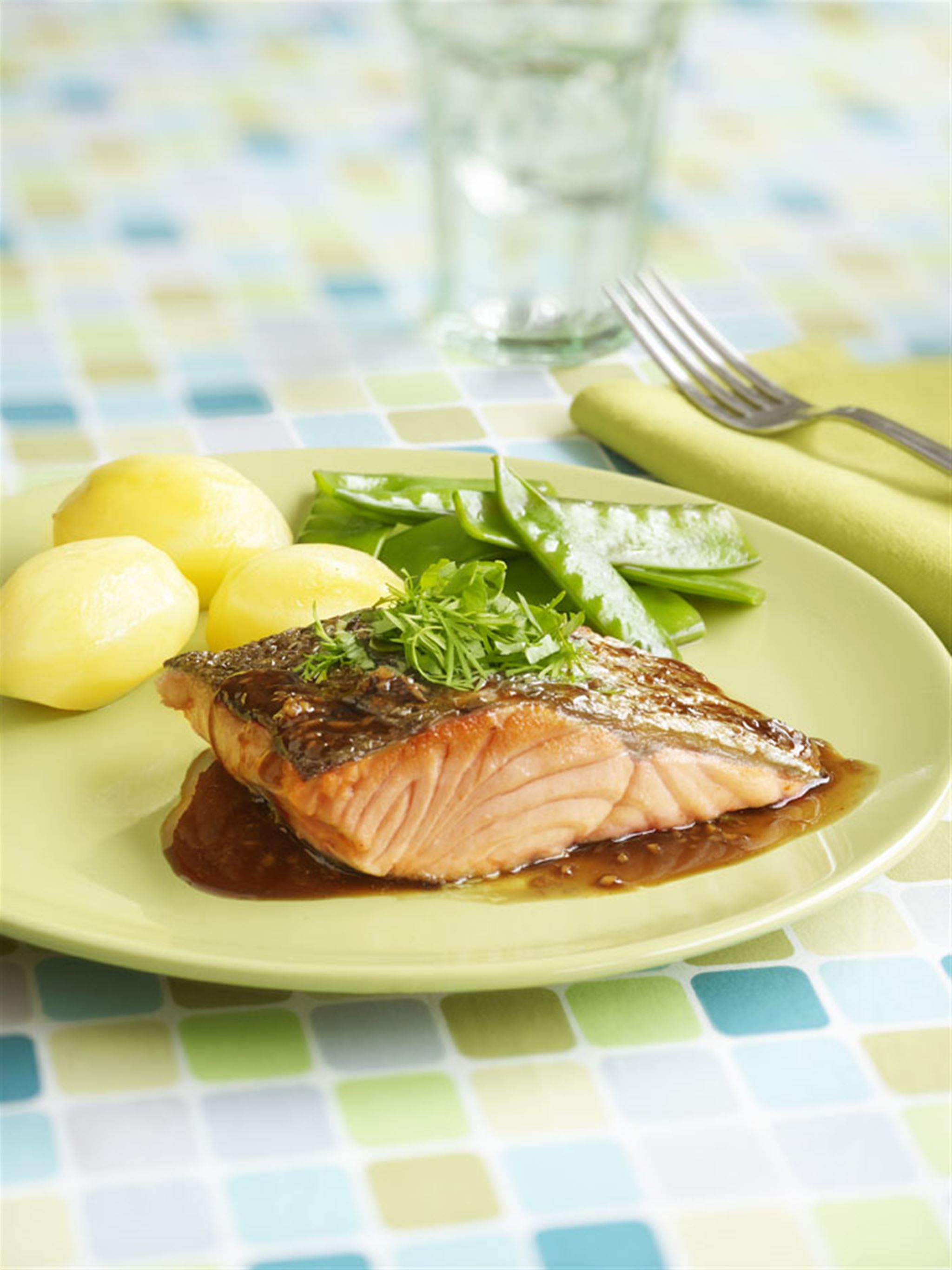 Pan Fried Salmon with Sweet Soy Sauce