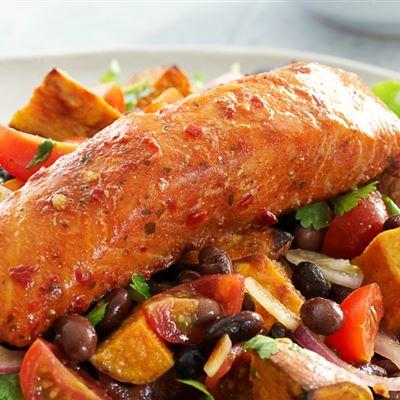 Piri Piri salmon salad