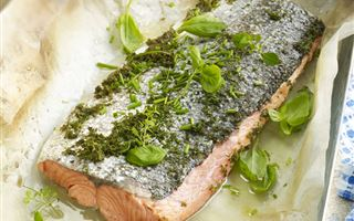 Poached Salmon with Summer Herbs