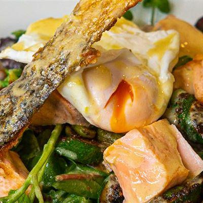 Salmon and summer vegetable salad