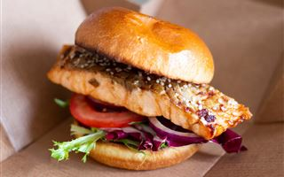 Salmon Fillet in a Bun