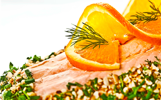 Salmon with Oranges and Herbs