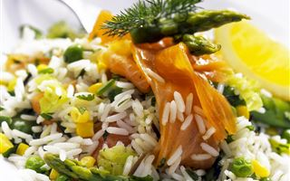 Smoked Salmon Rice Salad