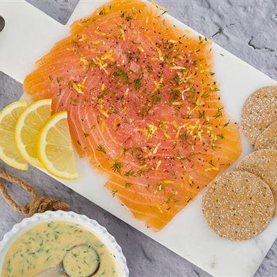 Smoked salmon style Gravadlax