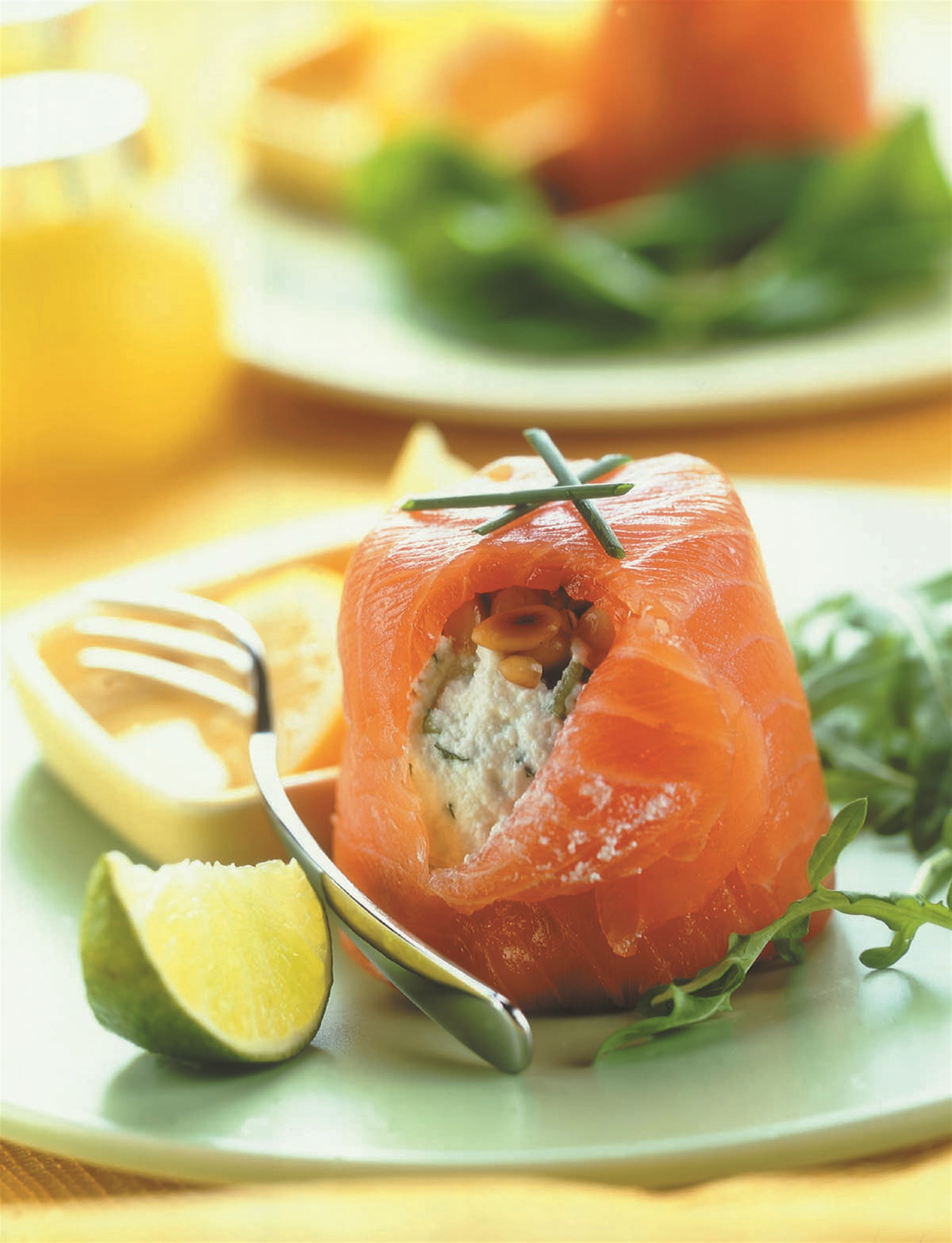 Smoked Salmon with Ricotta and Herbs